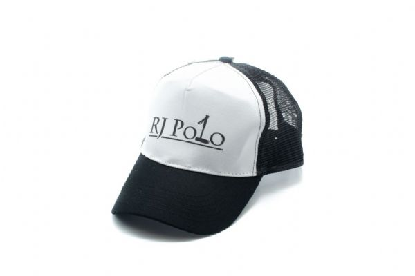 Trucker Cap with RJ Polo logo in Black